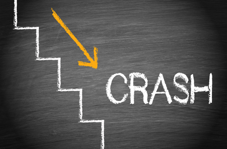 decline: Crash - Financial Disaster Stock Photo