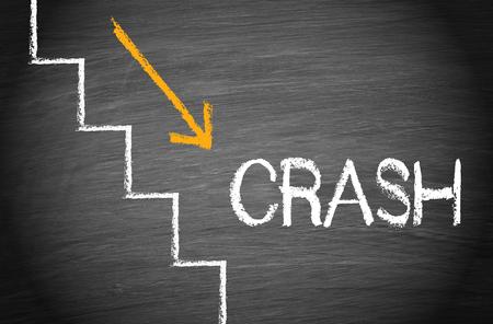 Crash - Financial Disaster Stock Photo