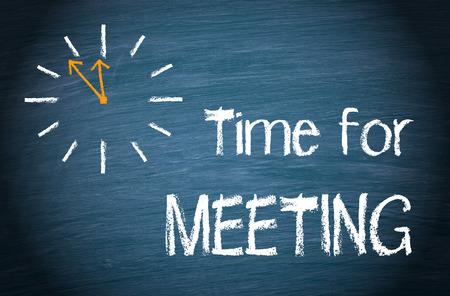 reunion de trabajo: La hora de reunión Foto de archivo