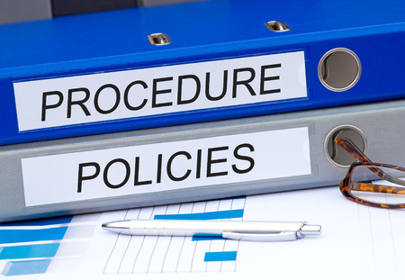procedures: Procedure and Policies Stock Photo