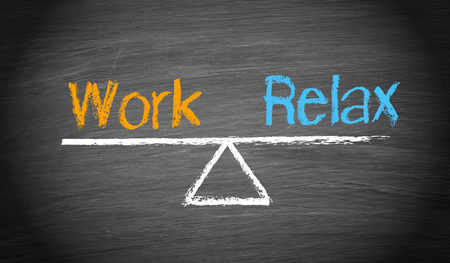 quality of life: Work and Relax - Balance Concept