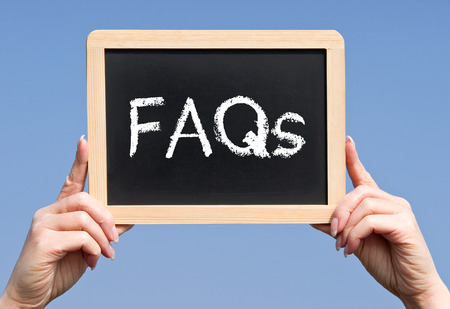 faq: FAQs - Frequently Asked Questions Stock Photo