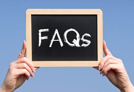 FAQs - Häufig gestellte Fragen Lizenzfreie Bilder