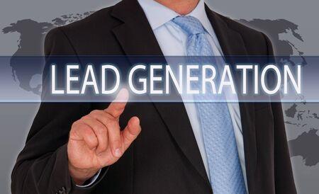 referrals: Lead Generation Stock Photo