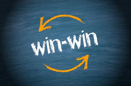 conflicto: Ganar-ganar situación - Concepto de negocio Foto de archivo