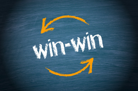 win win: Win-win Situation - Business Concept