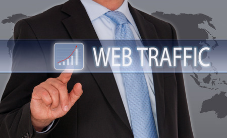 website words: Web Traffic Stock Photo