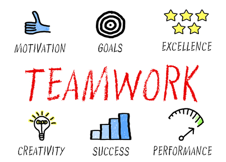collaborate: Teamwork Business Concept