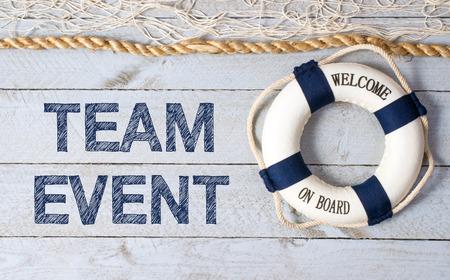 bienvenida: Competición por equipos - Bienvenido a bordo Foto de archivo