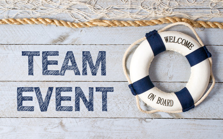 management training: Team Event - Welcome on Board Stock Photo