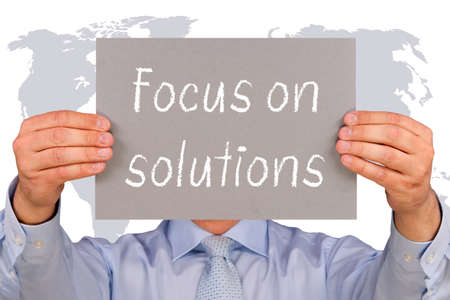 focus on the goal: Focus on solutions Stock Photo