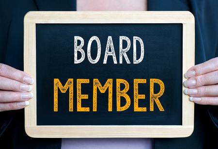 Board Member - Businesswoman with chalkboard