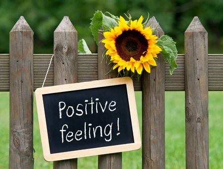 feeling positive: Positive Feeling Foto de archivo