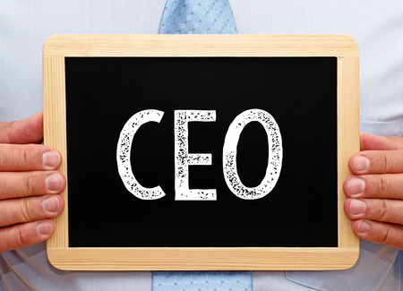 title hands: CEO - Chief Executive Officer Stock Photo