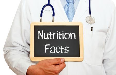 Nutrition Facts Stockfoto