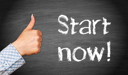 Start now ! Stock Photo