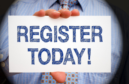 today: Register today
