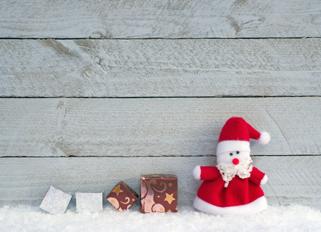 christmas gifts: Merry Christmas - Santa Claus with gifts