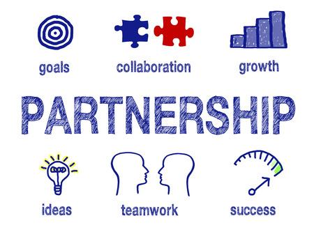 koncepció: Partnerség - Üzleti siker fogalma