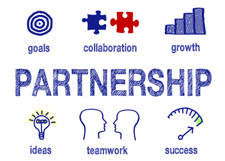 Partnerschaft - Business Erfolg Konzept Lizenzfreie Bilder