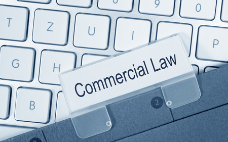 security laws: Commercial Law Stock Photo