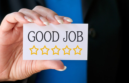 good: Good Job - Five Stars Stock Photo