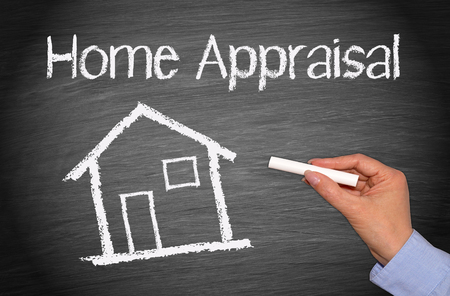 real people: Home Appraisal Stock Photo