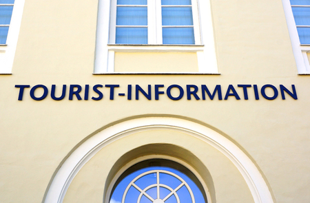 Tourist Information Building Stock Photo