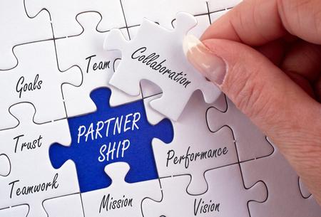 üzlet: Partnership üzleti koncepció Stock fotó
