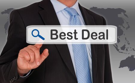 reduced value: Best Deal Internet Search Stock Photo