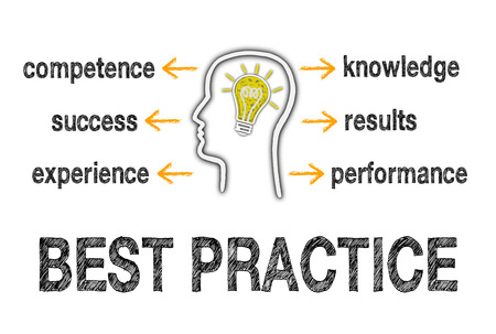 working ethic: Best Practice Business Concept