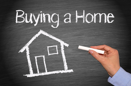buying a home: Buying a Home - Real Estate Concept Stock Photo