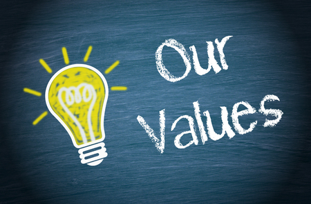 core strategy: Our Values Stock Photo