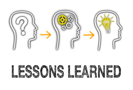 learned: Lessons learned - Education Concept