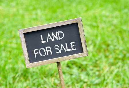 for sale sign: Land for sale