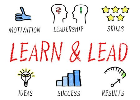 learn and lead: Learn and Lead - Business Concept Stock Photo