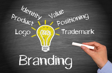Branding-und Marketing-Business-Konzept Standard-Bild