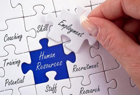 Human Resources - Werving en Ontwikkeling Stockfoto