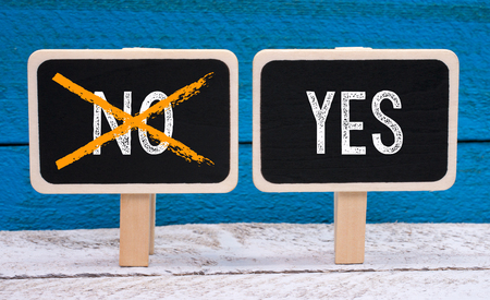 verifying: Yes an No - positive decision and approval