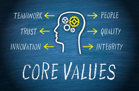 Core Values Business Concept 스톡 콘텐츠