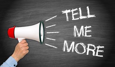 megafono: Dime más - Megáfono con el texto