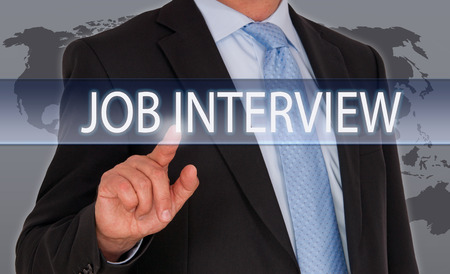 applicant: Job Interview - recruitment and hiring Stock Photo