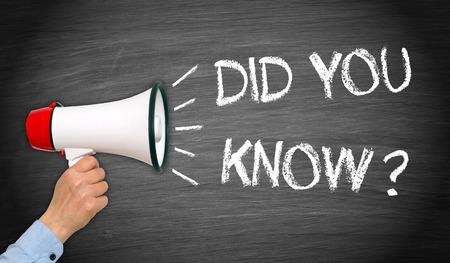 Did you know ? Stockfoto