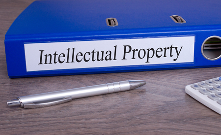 property rights: Intellectual Property - binder in the office