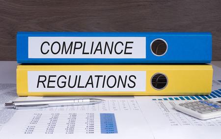 contabilidad: Cumplimiento y Reglamentos Foto de archivo