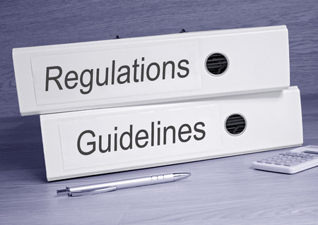 guidelines: Regulations and Guidelines Stock Photo