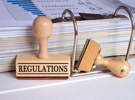transparency: Regulations - rubber stamp in the office Stock Photo