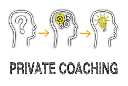 private schools: Private Coaching Business Concept Stock Photo