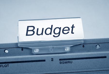 financial controller: Budget Folder Register Index Stock Photo