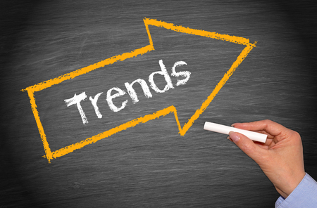 Trends - arrow with text Stock Photo - 50027520